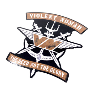 THE DEED NOT THE GLORY DECAL