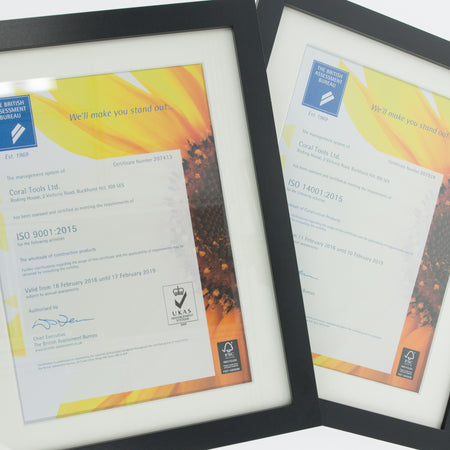Coral Tools Ltd first to adopt ISO 9001 & 14001:2015