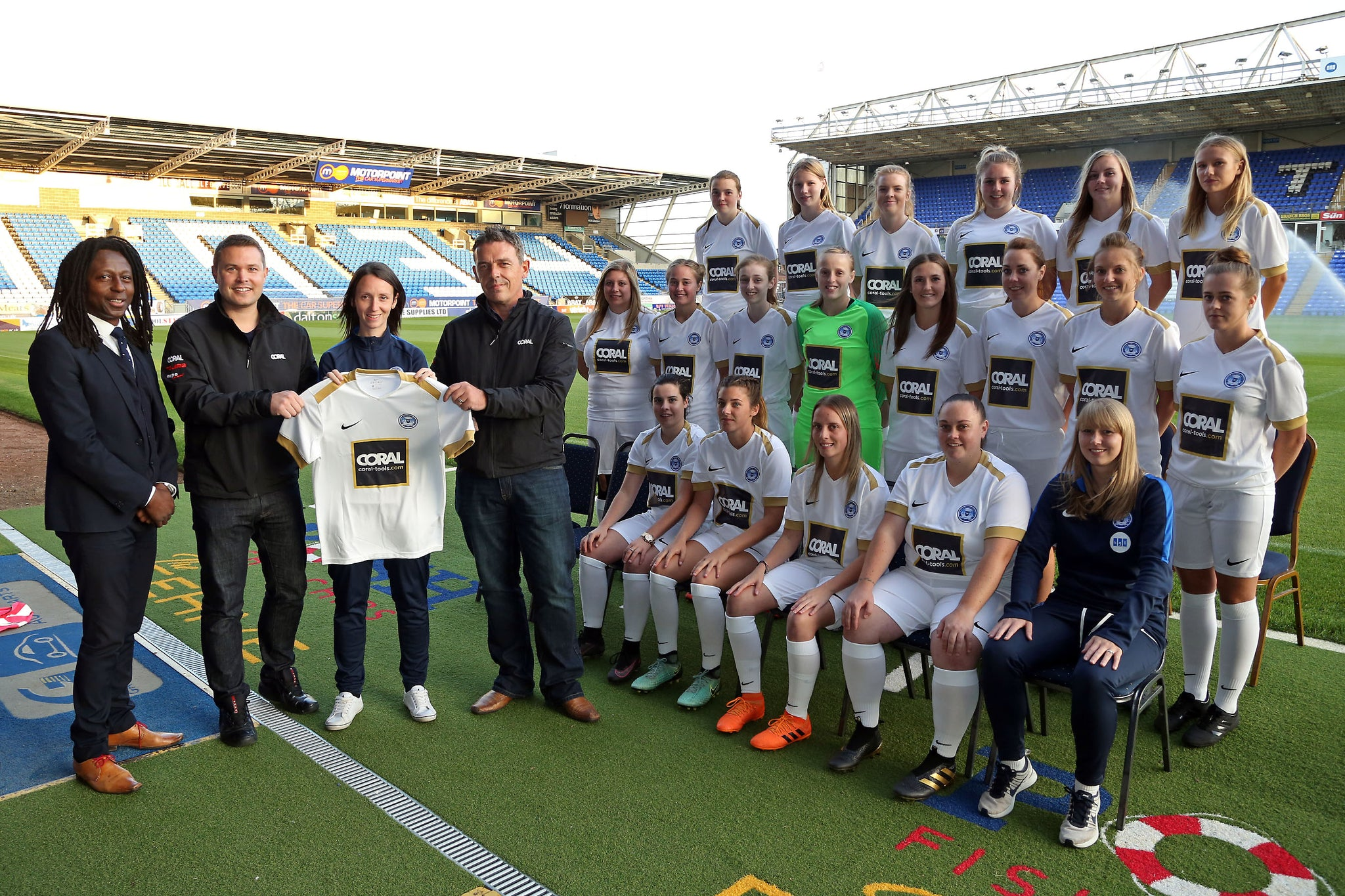 Coral Tools unveil Peterborough United Ladies new away short 2018-19 season