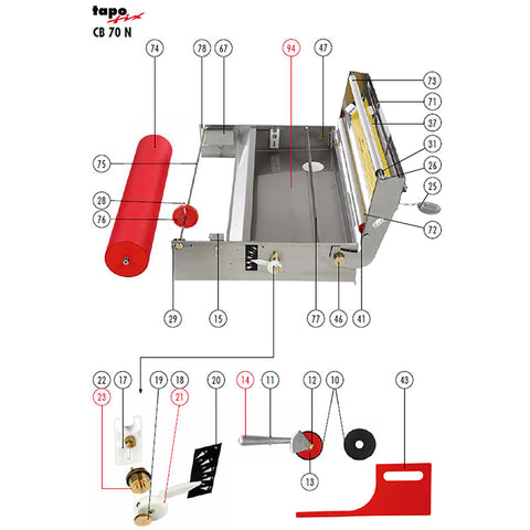 Tapofix CB70-N Wallpaper Paste Machine for Fast Pasting of Wallcoverings up to 56CM