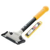 Tajima Scrape-Rite Scraper with a Professional Heavy Duty Handle and 3 Endura Solid 18MM Blades 300MM