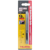 Tajima Acute Snap Off Knife with 30 Degree Angle Slimline Handle and 3 Blades for Precision Graphics 9MM