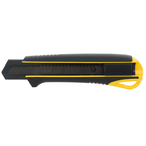 Tajima ProGrip Dura Snap Off Knife with Auto Lock Heavy Duty Grip Handle and Razar Black Blade 25MM