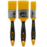 Coral Zero-Loss Paint Brushes with No Loss of Bristle Paintbrush Heads 3 piece pack set