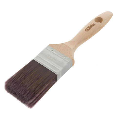 Coral Aspire Paint Brush with a Fine Synthetic Bristle Paintbrush Head and Wooden Handle 2 inch