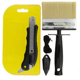 Coral Paperwiz Original Wallpaper Tool Kit with Knife Brush and Plumb Bob for Paper-Hanging 4 piece pack set