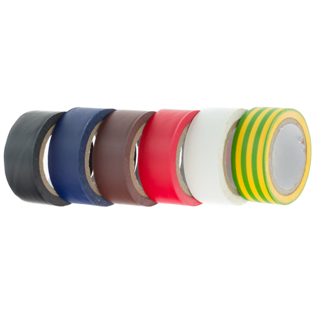 Coral Essentials Electrical Tape 19MM 5M roll 6 piece pack set