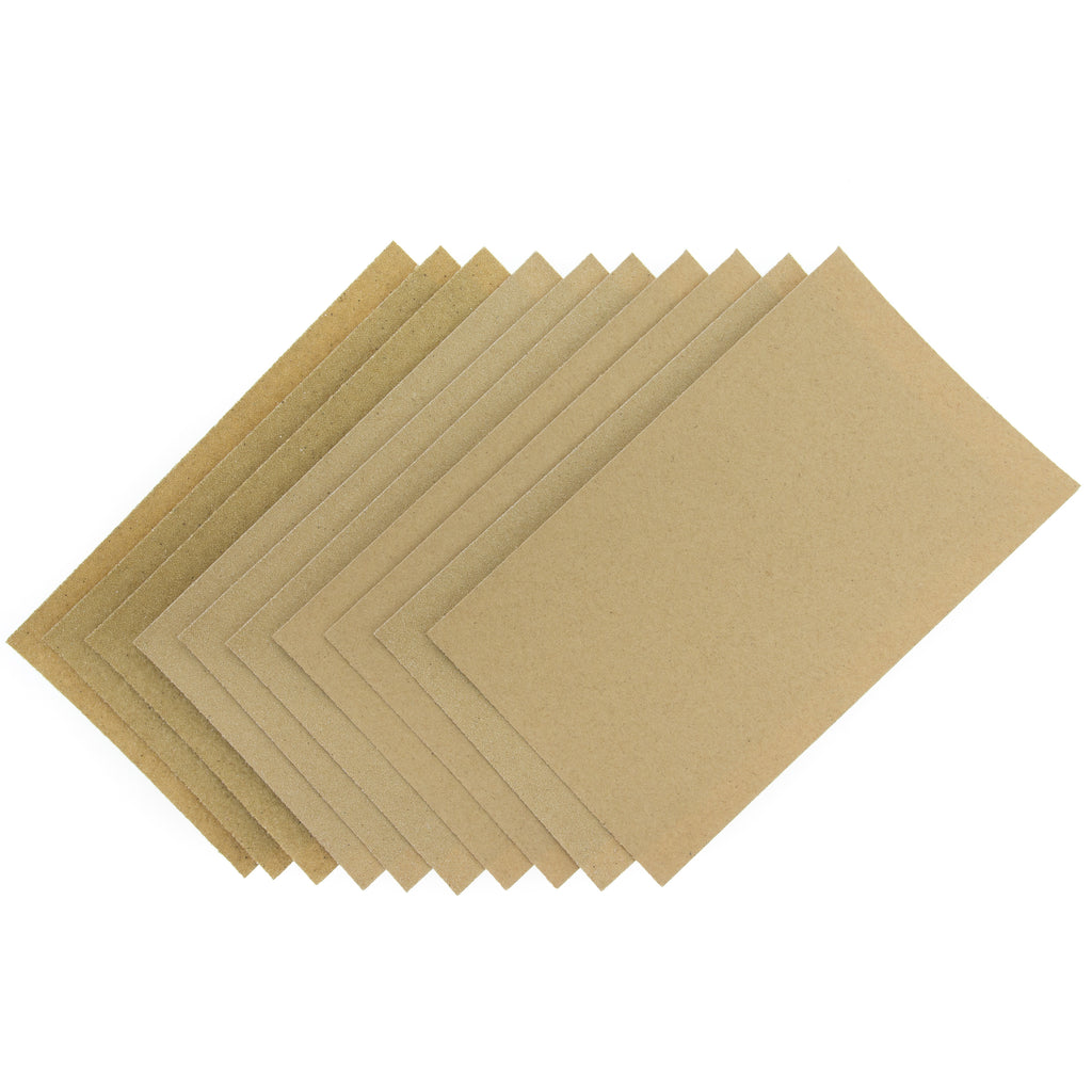 Coral Essentials Abrasive Sandpaper Sheets with Fine Medium and Coarse Grits 10 piece pack set