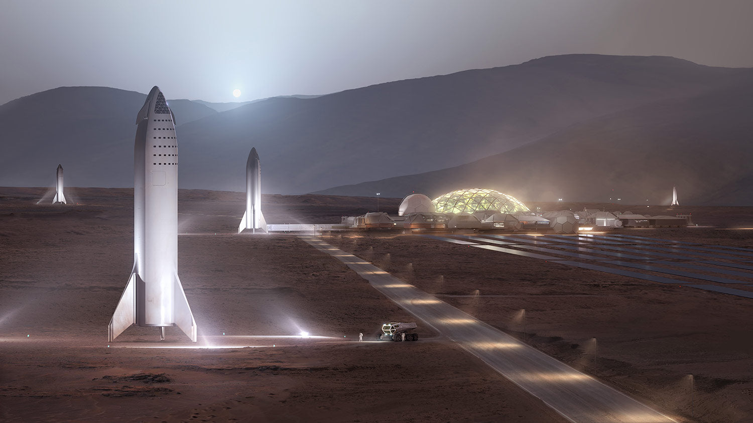 SpaceX Starships on Mars