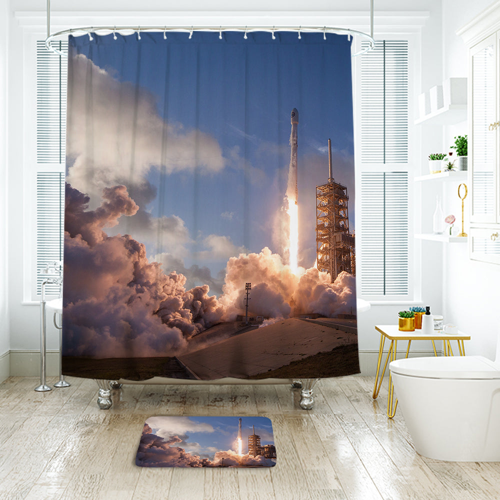 Liftoff bathroom mat