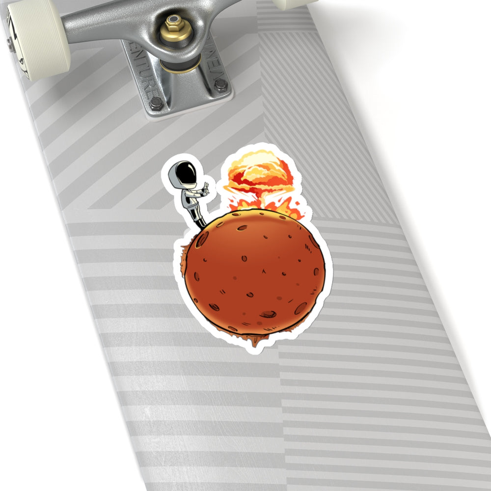 Starman Nuking Mars Sticker - SpaceX Fanstore