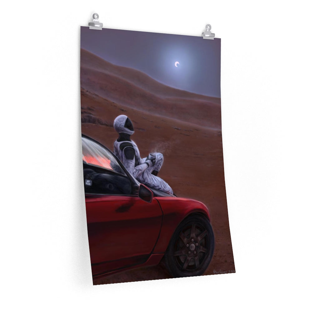 Red car on a red planet Poster - SpaceX Fanstore