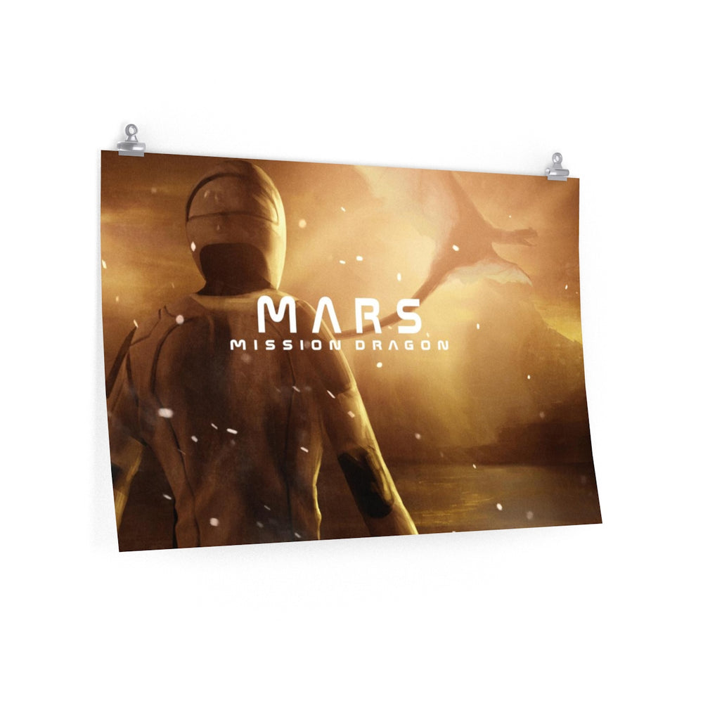 Mars: Mission Dragon Poster - SpaceX Fanstore