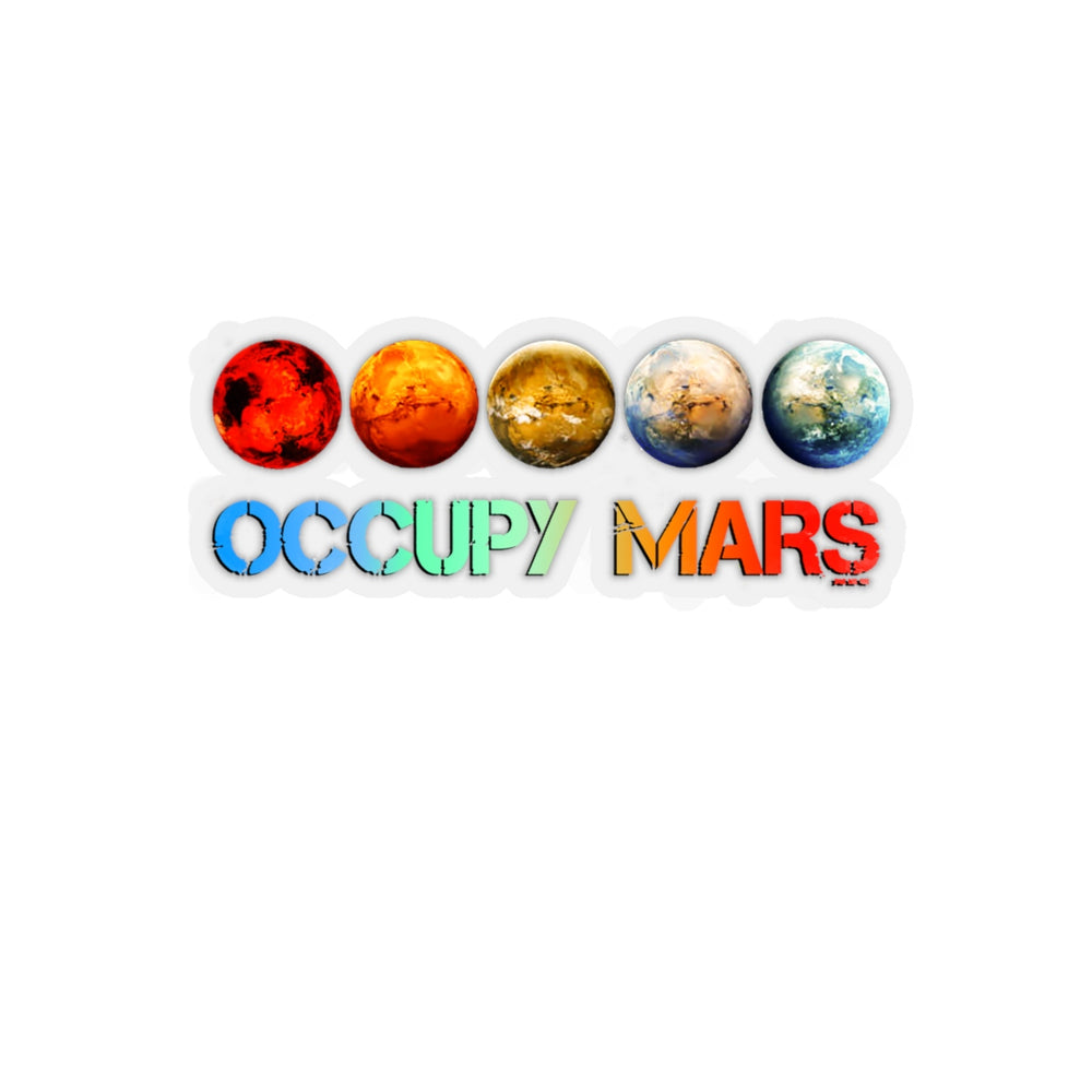 Occupy Mars Sticker - SpaceX Fanstore