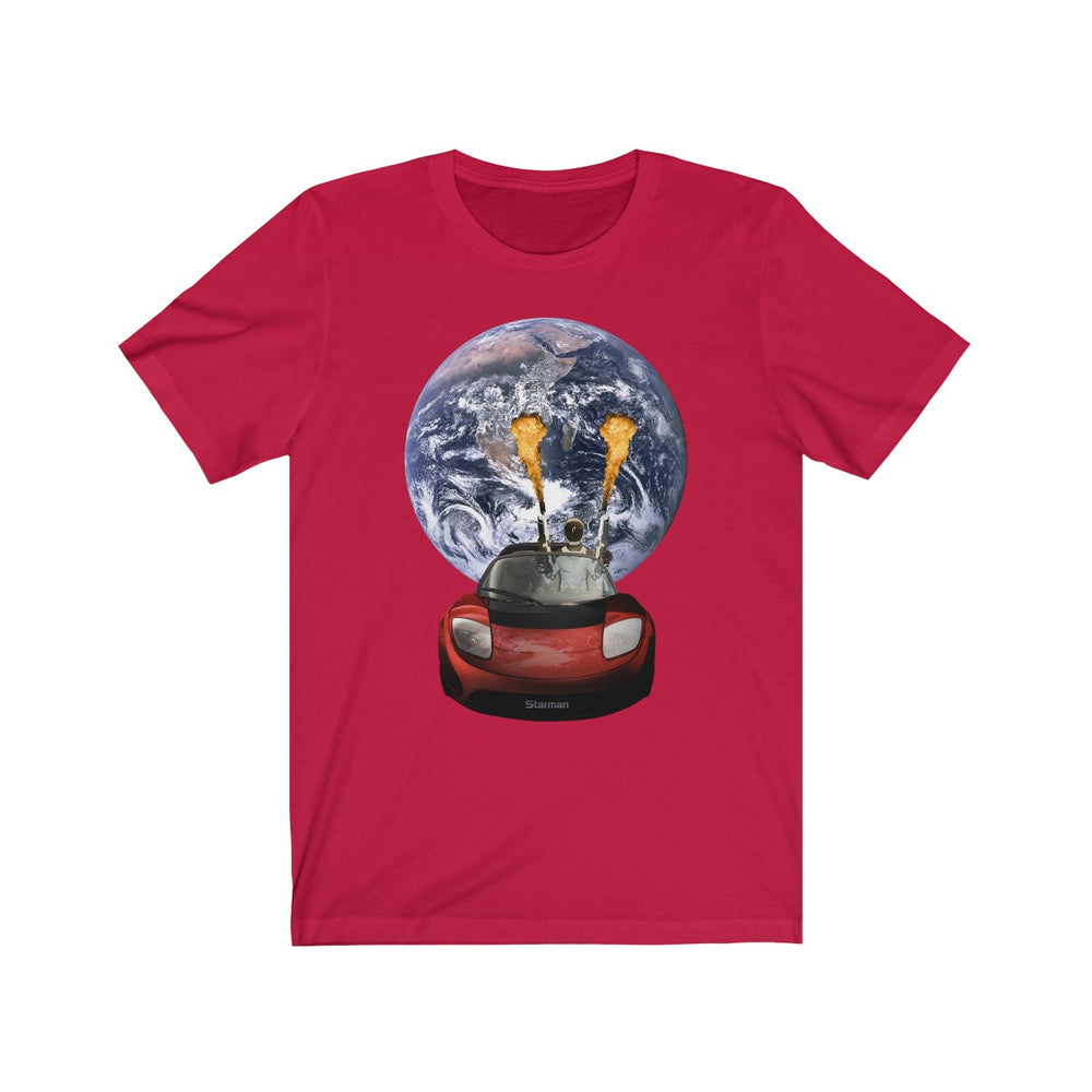 Starman on Fire T-Shirt - SpaceX Fanstore