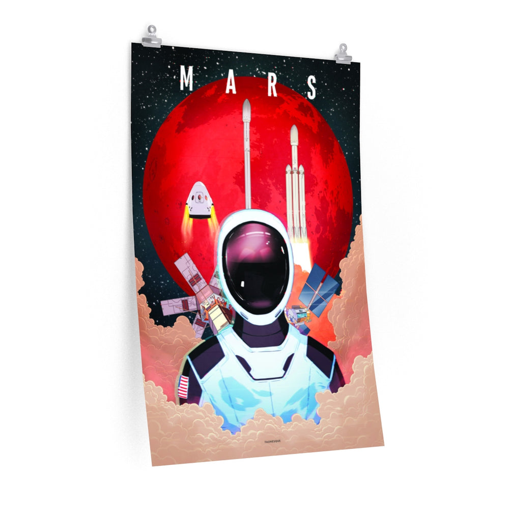 Looking up to Mars Poster - SpaceX Fanstore