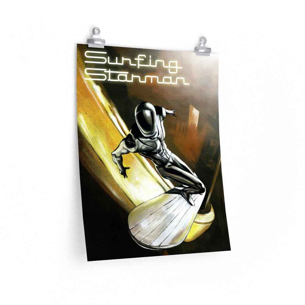 Surfing Starman Poster