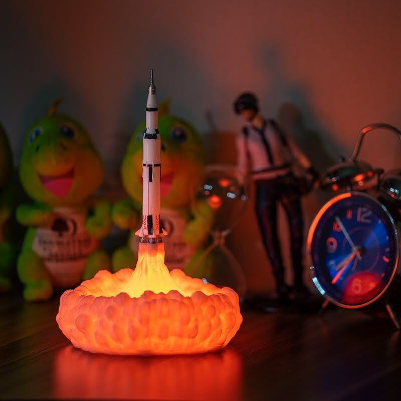 Saturn V Rocket Lamp - SpaceX Fanstore