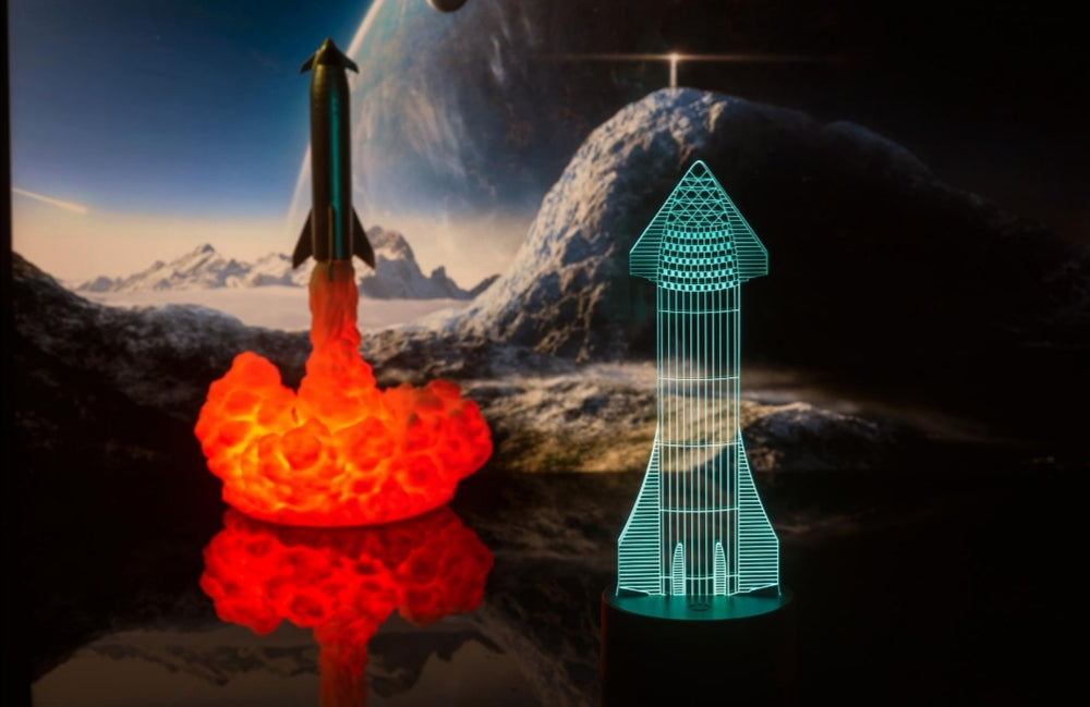 Starship Nightlamp - SpaceX Fanstore