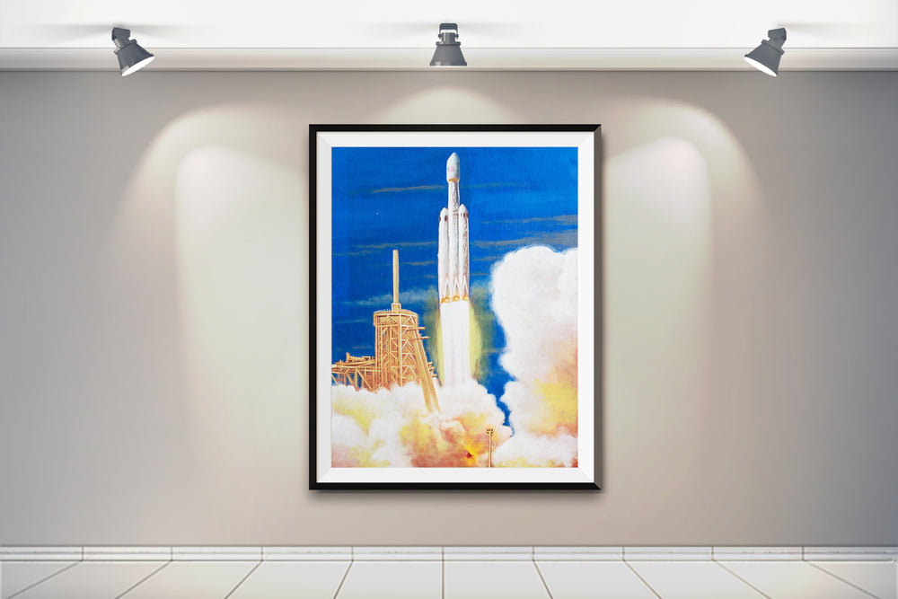 FH Liftoff Painting - SpaceX Fanstore
