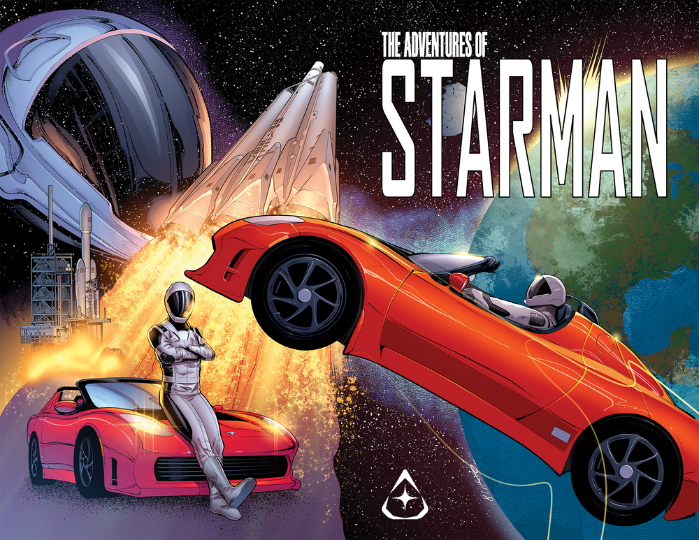 The Adventures of Starman – Limited Edition Comic - SpaceX Fanstore