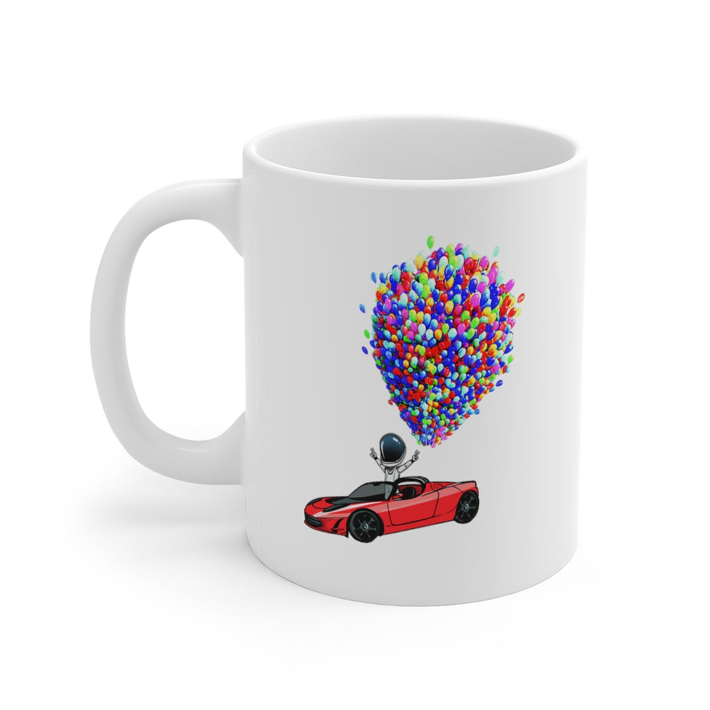 Floating Starman Mug - SpaceX Fanstore