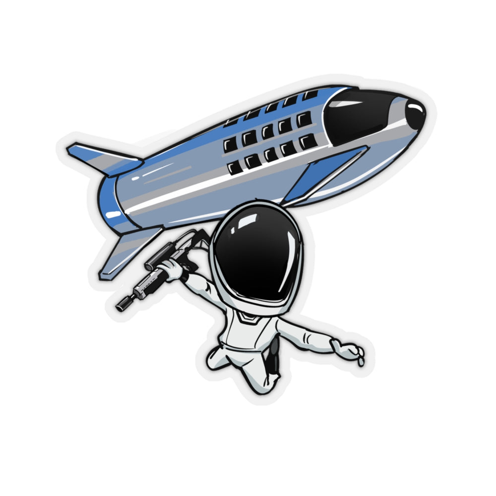 Skydiving Starman Sticker - SpaceX Fanstore