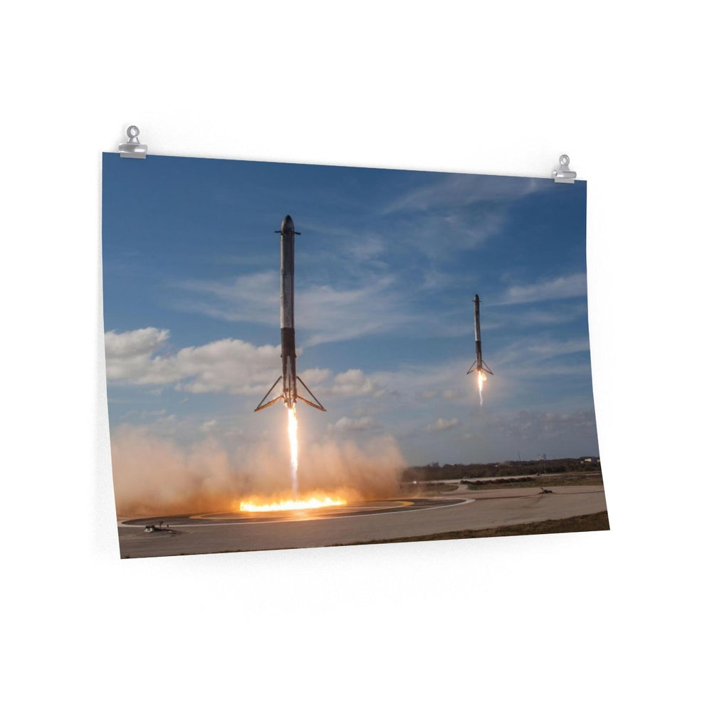 Landing of the Boosters Poster - SpaceX Fanstore