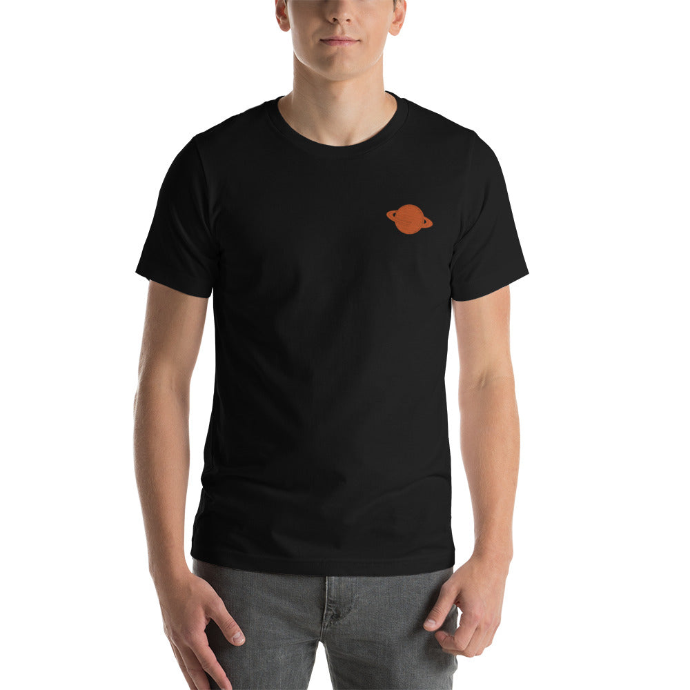 Saturn Embroidered T-Shirt - SpaceX Fanstore
