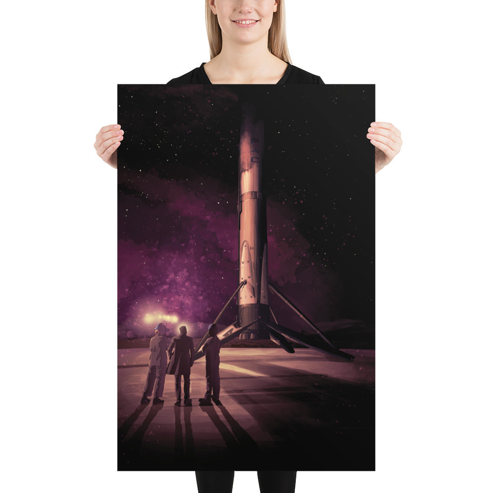 Limited Edition Landed Booster Poster - SpaceX Fanstore