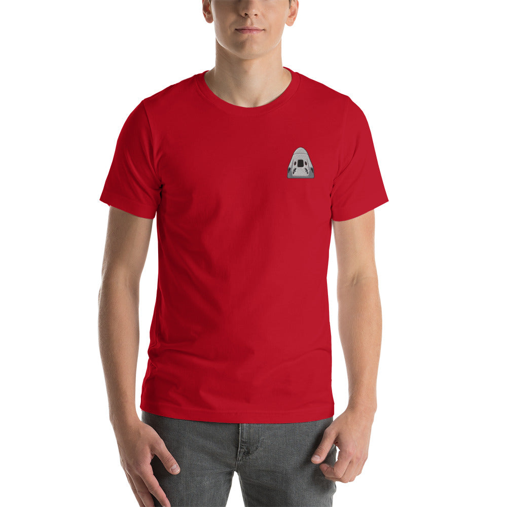 Crew Embroidered T-Shirt - SpaceX Fanstore