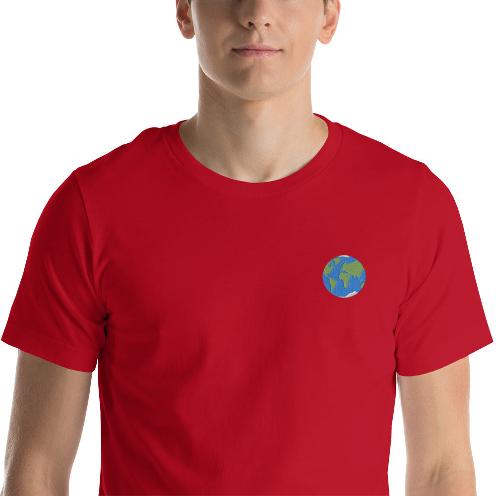 Earth Embroidered T-Shirt - SpaceX Fanstore