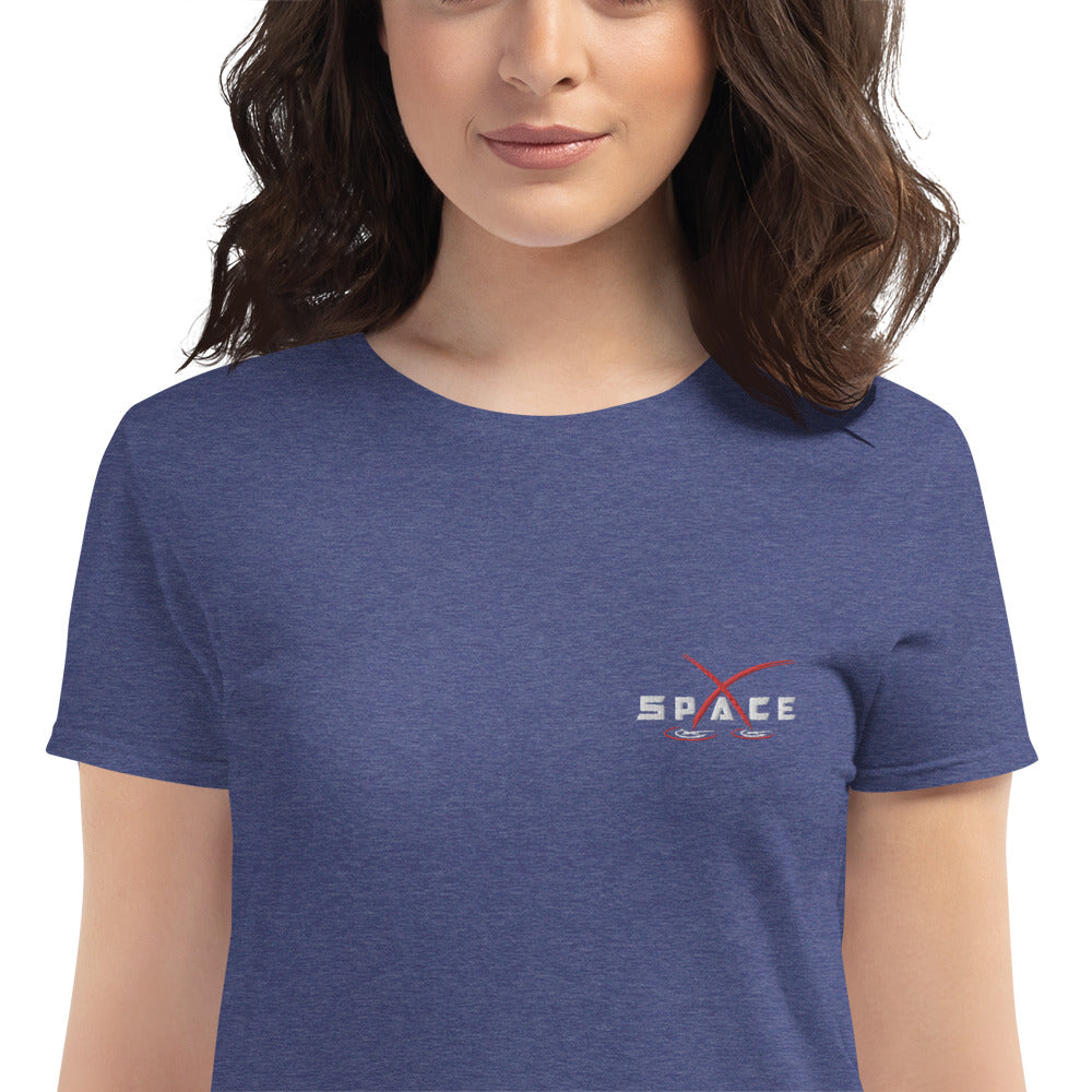 Embroidered Women's Space Shirt - SpaceX Fanstore