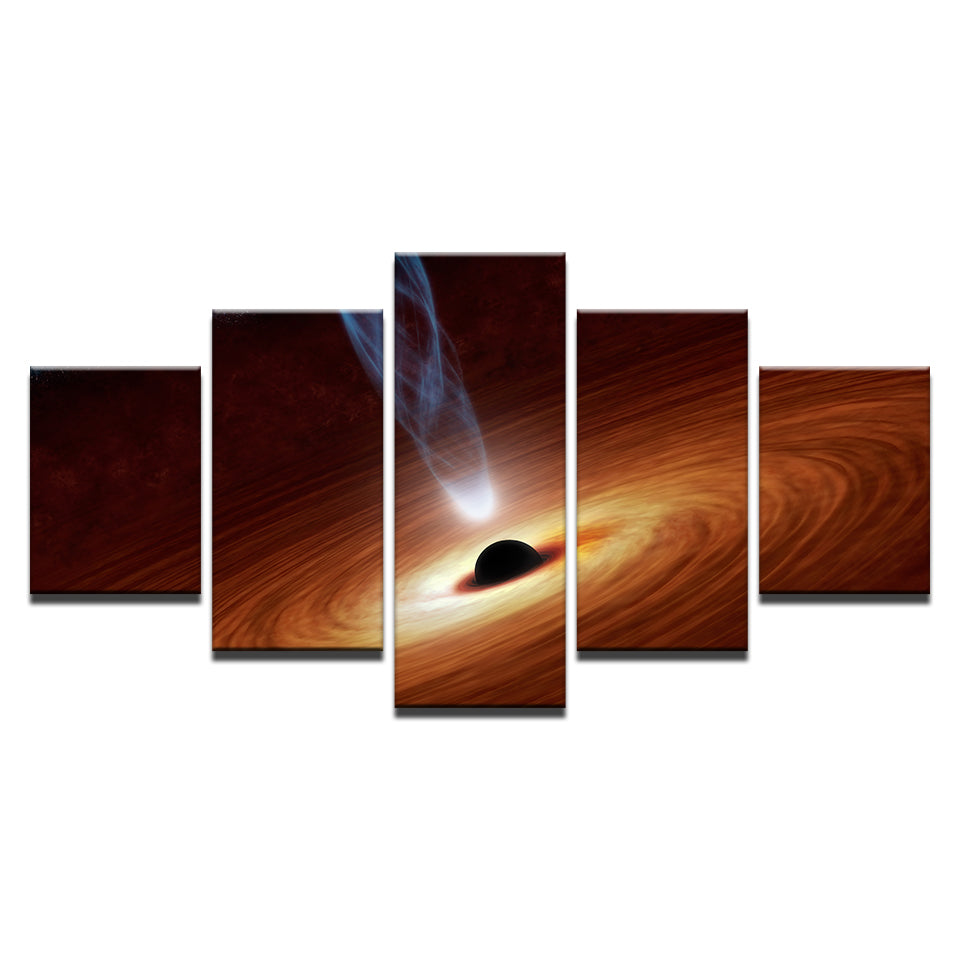 Spiraling black hole canvas