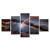 Sun Eating Blackhole Canvas