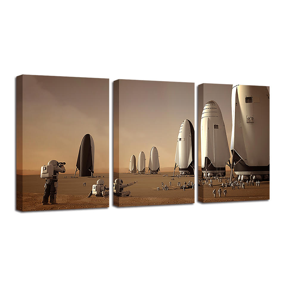 Visionary Pioneers 3-Piece Canvas