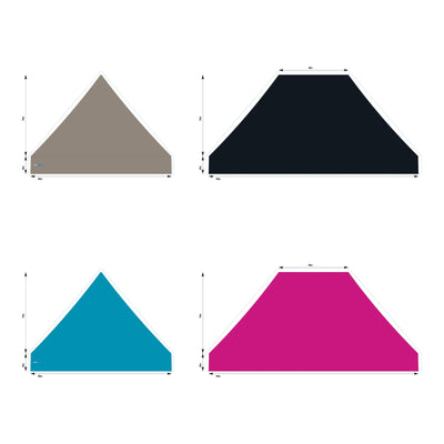 10x15 Foot Topper PVC Solid Colour