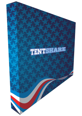 Promotional Pop Up Booth Fabric Media Wall 8x8