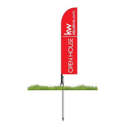 Keller Williams Open House Small Feather Flag Kit