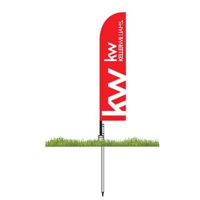 Keller Williams Corporate Small Feather Flag Kit