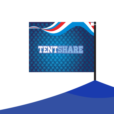 Tent Top Flag & Pole Kit