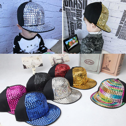 2015 Retail Kids Baseball Caps Non-mainstream rivet Hip hop Cap snapback hats Baby Boys Girls Peaked cap