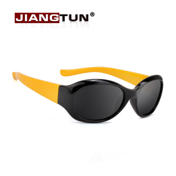 JIANGTUN Top Quality Baby Boys Girls Brand Kids Sunglasses Fit 3-12 Year TR90 Polarized Children Glasses Fashion Oculos