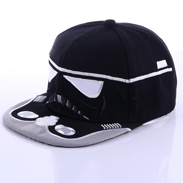 2017 Summer 1Pc Unisex Star Wars Snapback Hats Cool Boy Strapback Letter Baseball Cap Black White Men Women Hip-hop Fitted Hats