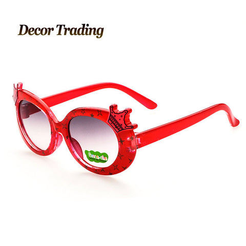 2015 Fashion Cartoon Kids Sunglasses Child Sun Glasses Anti-UV Baby Sun-shading Eyeglasses Girls Boys Sunglass Brand 1226