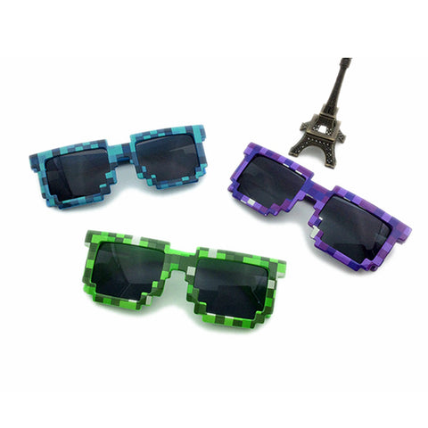2016 New Kids Toy Cartoon MineCraf Cartoon Sun Glasses Boys Girls Action Figure Plastic Cosplay Christmas Birthday Decoration
