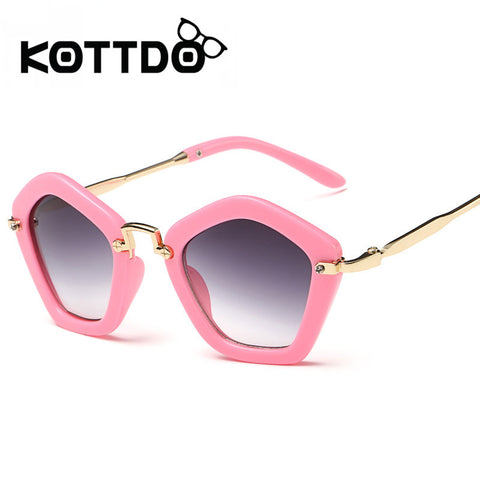 KOTTDO 2017 Fashion Brand Designer Children Sunglasses Retro Metal High Quality Eyeglasses Frame Super Cute Children Glasses