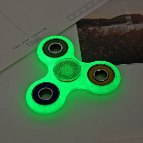 LED Glowing Hand Spinner focus Toys EDC Fidget Spinner Toy Austism ADHD Education&Learning Toys Choice Board Game FishDay May11