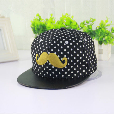 New Fashion Snapback Adjustable Woman's Baseball Cap Hip Hop Hat Casual Youth Snap Back Teddy Boy Look Mustache
