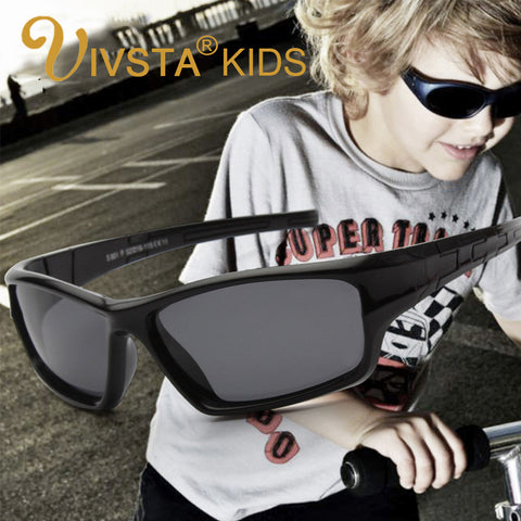 IVSTA 801 kids sunglasses polarized lenses kids sunglasses boys silicone TR90 flexible frame kids sunglasses eyewear
